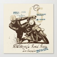 motorcycle Canvas Prints featuring Motorcycle by Danilo De Donno