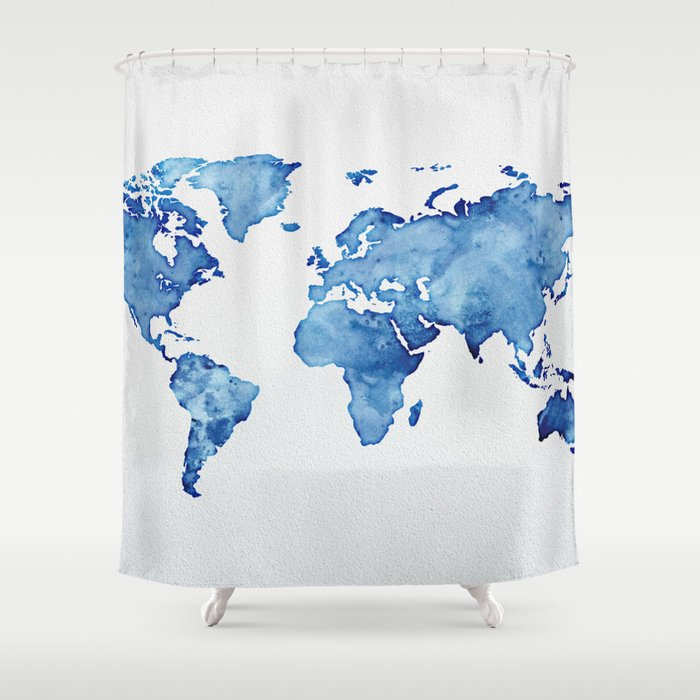 Blue World Map 03 Shower Curtain on world map tester, world map costume, world map dresses, world map size, world map vintage, world map modern, world map business, world map gold, world map bedroom decor, world map retail, world map illustrator, world map cook, world map color, world map creator, world map sports, world map rain, world map photography, world map teacher, world map design, world map name,