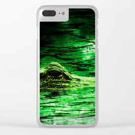 Lurking Gator Clear iPhone Case