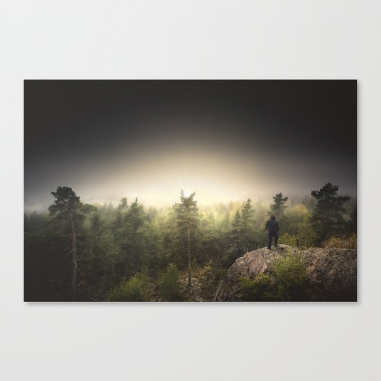 Im happily lost yet again Canvas Print