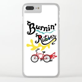 Burning Rubber bike Clear iPhone Case
