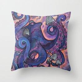 Octocybin Throw Pillow