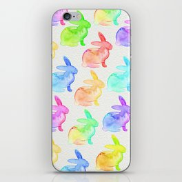 Watercolor Bunni iPhone Skin