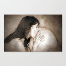 Sensual Wet Kiss Canvas Print