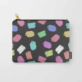 Colorful Brush Strokes - Blue Green Pink Purple Carry-All Pouch