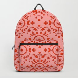 Boho Floral - Orange Backpack