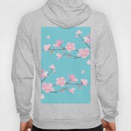 Cherry Blossom - Robin Egg Blue Hoody