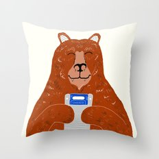 Game Bear Throw Pillow