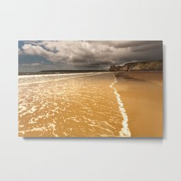 The Great Tor Gower Metal Print