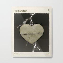 Mary Shelley's Frankenstein - Minimalist literary design, literary gift, bookish gift, illustration  Metal Print