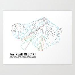 Jay Peak, VT - Minimalist Trail Art Art Print