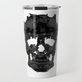 Sketchy Cat skull Travel Mug