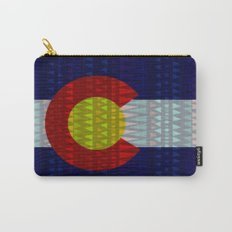 Colorado Flag/Geometric Carry-All Pouch