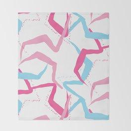 Pink blue fantasy Throw Blanket