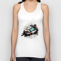 sneaker Tank Tops featuring Sneaker by Nicu Balan