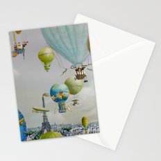 Ballooning over everywhere: Paris Stationery Cards
