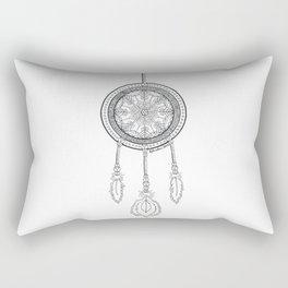 Dream Catcher Black and White Rectangular Pillow