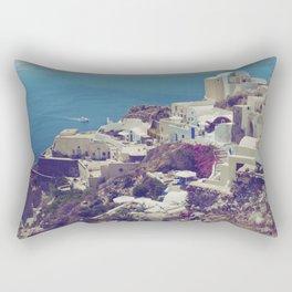 Oia from afar  Rectangular Pillow
