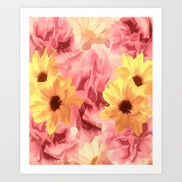 Summer Day Floral Art Print