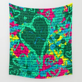 Life in text Wall Tapestry