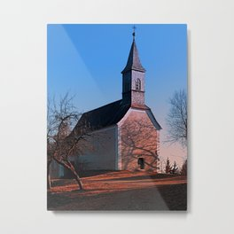 The village church of Hollerberg II | architectural photography Metal Print