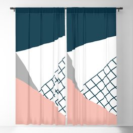 Colorful geometry 16 Blackout Curtain
