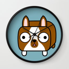 Boston Terrier Loaf - Red Brown Boston Dog Wall Clock