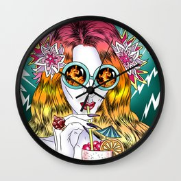 Beach Frenzy Wall Clock