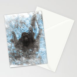 Orangutans are disappearing Stationery Cards