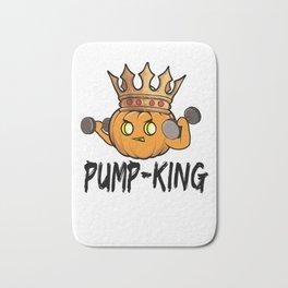 Halloween pumpkin bodybuilder Pumper King Gift Bath Mat