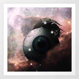 Horror Science Fiction Nebula Dreamscape Art Print