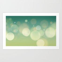 Bling Blur Art Print