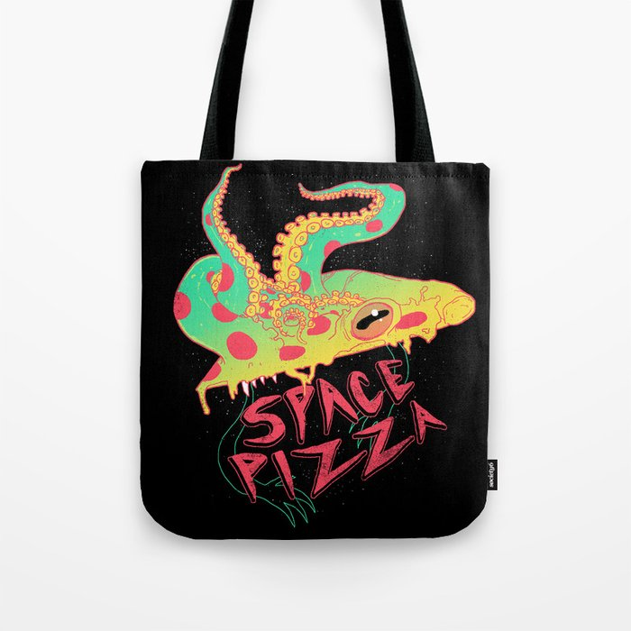 Space Pizza Tote Bag
