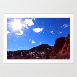 Colorado Mountains Art Print