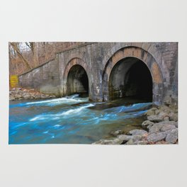 water under the railroad tracks Rug