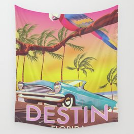 Destin Florida USA vintage style travel poster Wall Tapestry