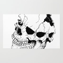 Skull (Fragmented and Conjoined) Rug