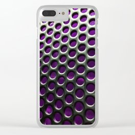 Stainless Steel Circles with Purple Clear iPhone Case