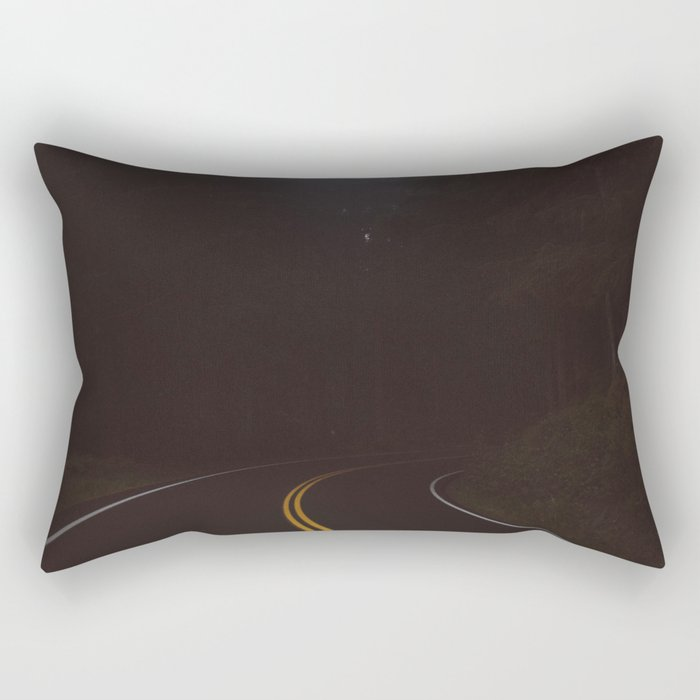 Foggy road #society6 #buyart Rectangular Pillow