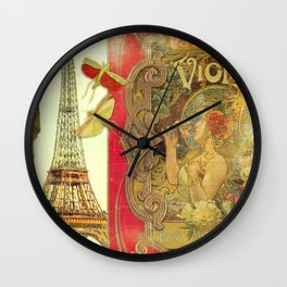 The Crickets of Paris Wall Clock
