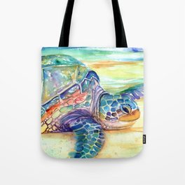 Rainbow Sea Turtle 2 Tote Bag