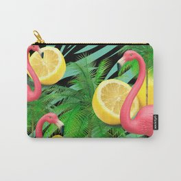 Flamingos and Lemons  Carry-All Pouch