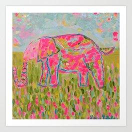 Jelly Bean The Elephant Art Print