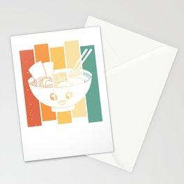 Noodle Ramen Noodle Soup Vintage Retro Stationery Cards
