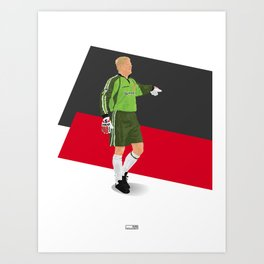 Peter Schmeichel - Manchester United goalkeeper  Art Print