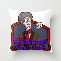 greg guillemin Throw Pillows featuring Greg and Chant by UncleGregory