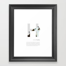 H is for Husky Framed Art Print