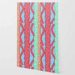 Doodle Art Buttons and Pins - Red Green Blue Wallpaper