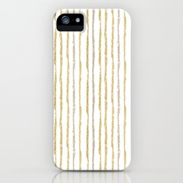 Gold & Silver Sparkle Lines iPhone Case
