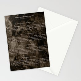The Four Agreements 2 Stationery Cards